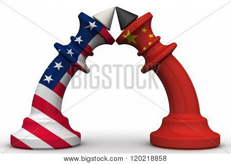 The confrontation of the People's Republic of China and the United States of America. The concept