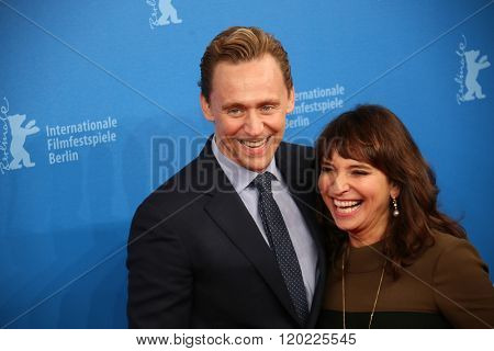 Berlin, Germany - February 18, 2016 -  Director Susanne Bier,   actor Tom Hiddleston attend the 'The Night Manager' premiere during the 66th Berlinale International Film Festival