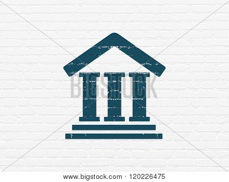 Law concept: Courthouse on wall background