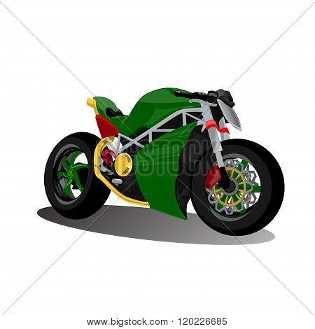 super sport extreme green bike motorcycle