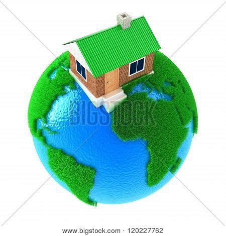Planet With House