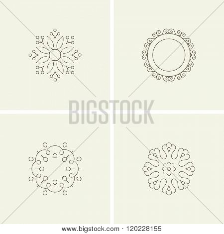 Abstract flower elements