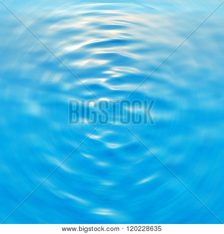 Blue Blurred Abstract Background Of Water