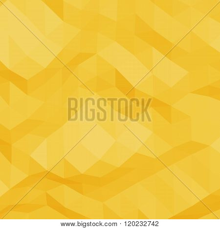Yellow abstract triangular background