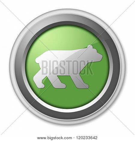 Icon, Button, Pictogram Bear