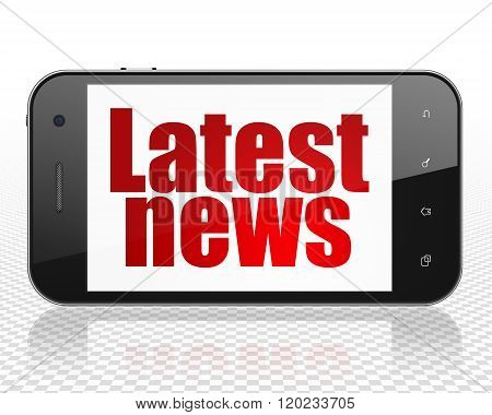 News concept: Smartphone with Latest News on display