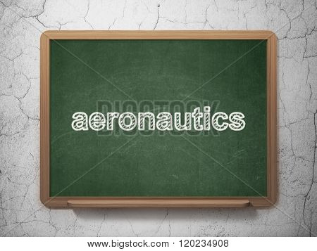 Science concept: Aeronautics on chalkboard background