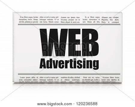 Advertising concept: newspaper headline WEB Advertising