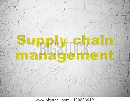 Advertising concept: Supply Chain Management on wall background