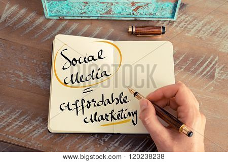 Written Text Social Media Is Affordable Marketing
