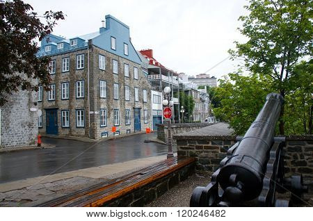 Charming historical street of Quebec