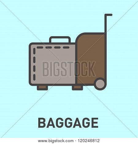 Travel baggage icon.