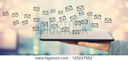 E-mail Concept With Tablet Computer