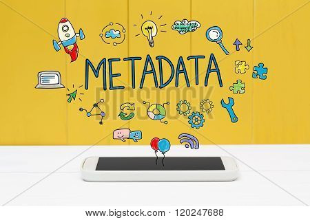 Meta Data Concept With Smartphone