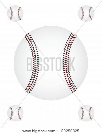 Vector Baseball Graphic