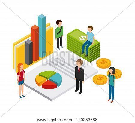 isometric businesspeople design