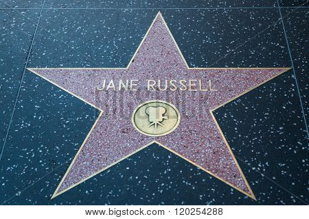 Jane Russell Hollywood Star