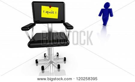 Black Chair With Resignation Notice