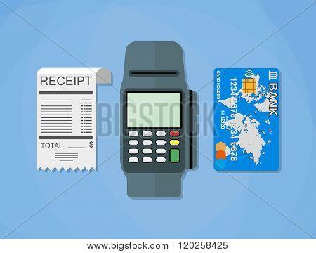 terminal, receipt, card