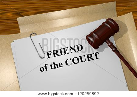 Friend Of The Court Concept
