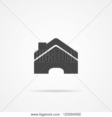 Home vector  flat icon  on the grey background