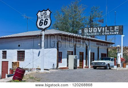 Mudville, U.S.A . - May 23, 2011: New Mexico, a vintage auto service station on the Route 66.