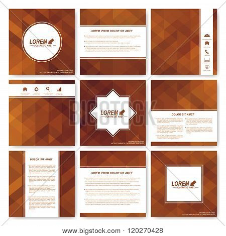Square set of brochure.  Business, science, medicine and technology design template. Cover layout .