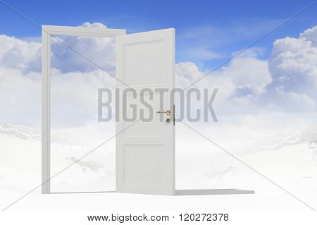 Opened door to somewhere