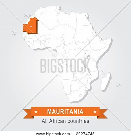 Mauritania. All the countries of Africa.