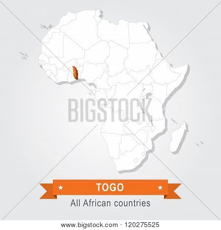Togo. All the countries of Africa.