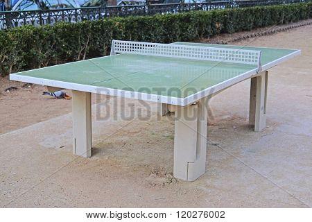 Tennis table in Luxemburg park in Paris