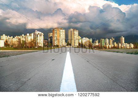 Asphalt Road To Modern Business City