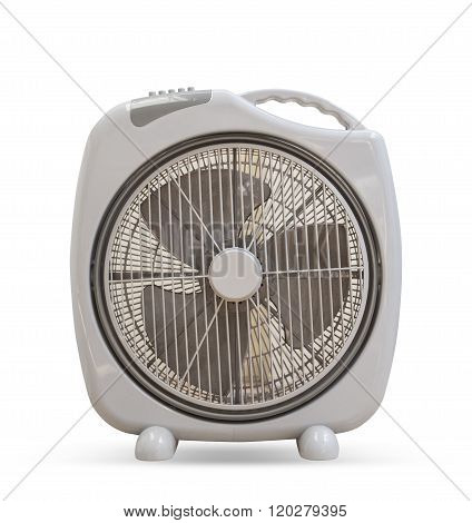 Electric Fan Elegant Design Isolated On White Background.