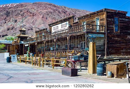 Calico, U.S.A. - May 27, 2011: California, wooden constructions in the old mine town near the Route 66.