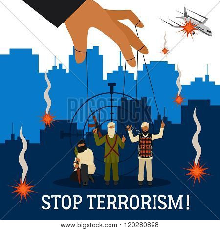 Stop Terrorism Illustration