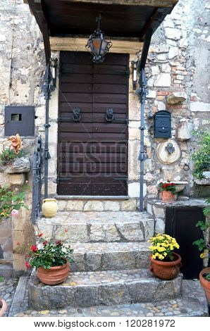 Glimpse Of A Typical Medieval Village In Italy