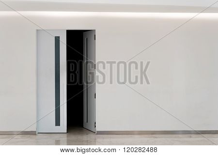 Door Open Into Dark Room, With Copy Space
