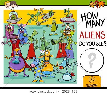 Counting Aliens Task For Kids