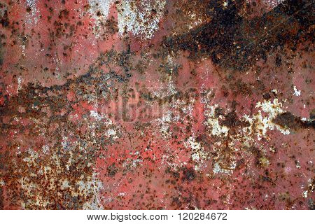 old rusty flat metal surface