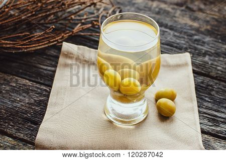 Compote Of Grapes In A Glass