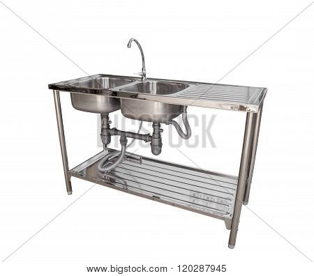 Empty Sink Isolated On White Background
