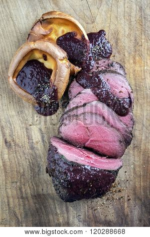 Roast Vanison with Yorkshire Pudding