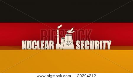 Energy generation atom station and Germany flag elements