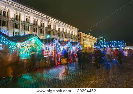 City Christmas Shopping arcade with a festive New Year's attribu