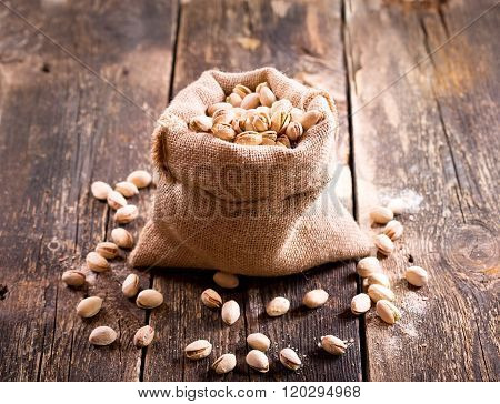 Pistachios In A Sack