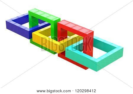 Three-dimensional Linked Squares