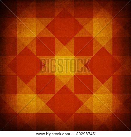 Retro Red And Yellow Diamond Pattern