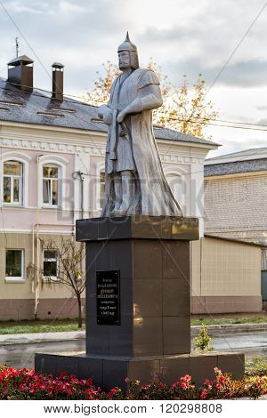 Monument governor Stepan Velyaminov. Usman. Russia