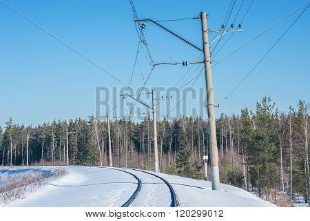 Electrified Railway Line.