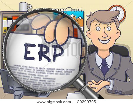 ERP through Lens. Doodle Design.